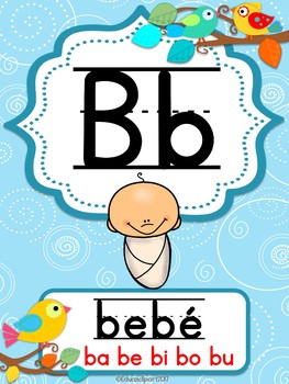 Boho Birds Spanish Alphabet