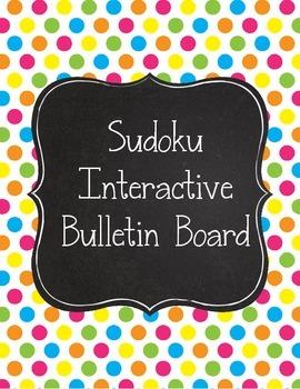 Boho Birds Sudoku Interactive Bulletin Board