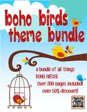 Boho Birds Theme Classroom Decor Bundle