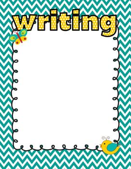 Boho Birds Theme Learning Objective Posters (includes blank editables)