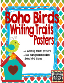 Boho Birds Theme Writing Traits Posters