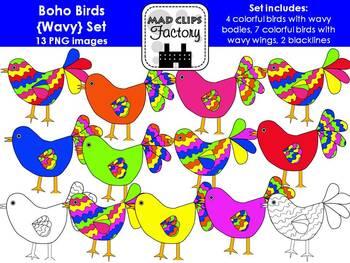 Boho Birds {Wavy}