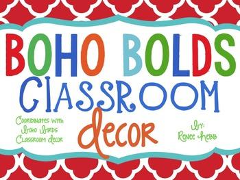 Boho Bolds Classroom Decor By Renee Hebb Teachers Pay Teachers