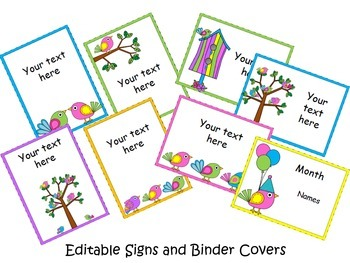 Boho Bright Birds Classroom Decor {Editable}