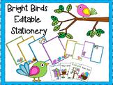 Boho Bright Birds Stationery {Editable!}