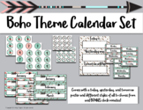 Boho Calendar and Days of the Week Chart
