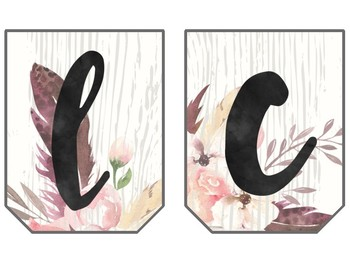 Boho Chic Watercolor Welcome Sign