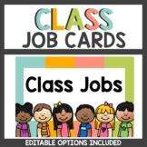 Boho Class Decor Student Job Cards