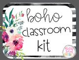 Boho Classroom Decor Kit - Editable