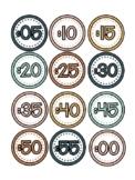 Boho Clock Labels