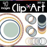 Boho Color Circles Clipart | Moveable Pieces