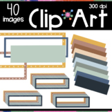 Boho Color Header Borders Clipart | Moveable Pieces