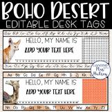 Boho Desert Desk Name Tags