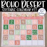 Boho Desert Editable Calendar