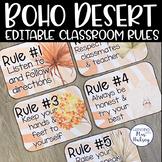 Boho Desert Editable Class Rules