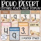 Boho Desert Place Value Display
