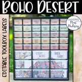 Boho Desert Teacher Toolbox Labels (Editable)