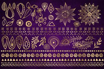 Boho Design Elements Clipart