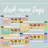 Boho Desk Name Labels