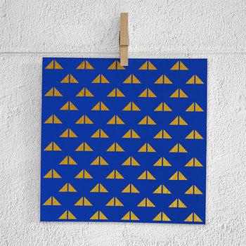 Boho Digital Paper Pack, Blue & Gold Bohemian Papers
