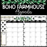 Boho Farmhouse Agenda Calendar
