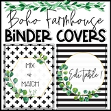 Boho Farmhouse Binder Covers and Spines