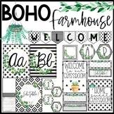 Boho Farmhouse Classroom Theme Decor Bundle