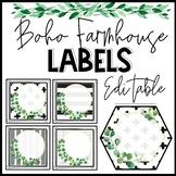 Boho Farmhouse Editable Labels