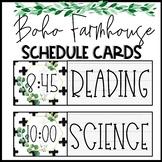 Boho Farmhouse Editable Schedule Cards