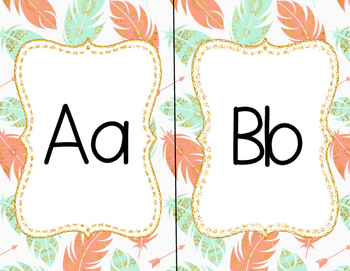 Boho Feather and Arrow Alphabet Posters