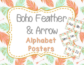Boho Feather and Arrow Alphabet Posters