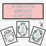 Boho Floral Themed Growth Mindset Posters
