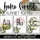 Boho Forest Classroom Alphabet Posters EDITABLE