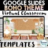Boho Rainbow Virtual Classroom   Boho Rainbow Google Slides