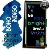 Boho Indigo Door Decoration Set Bulletin Board Class Quote