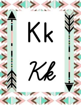 Boho Theme Alphabet Posters