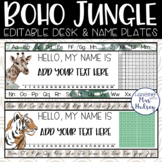 Boho Jungle Desk Name Tags