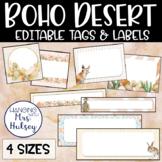 Boho Desert Editable Name Tags and Labels
