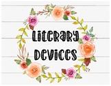 Boho Literary Devices Classroom Decor and Word Wall
