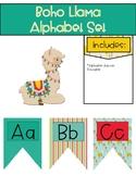Boho Llama Alphabet Set