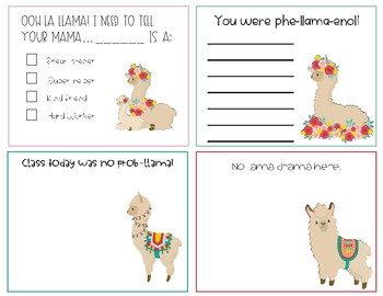 Boho Llama Positive Notes