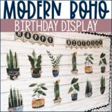 Modern Boho Classroom Decor | Potted Plants Birthday Display