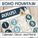 Boho Mountain Classroom Decor, Calendar, and More