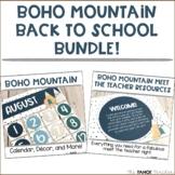 Boho Mountain Classroom Decor and Meet the Teacher Bundle