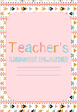 Boho Pink Teacher weekly planner Diary