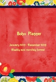 Boho Planner, 154 pages