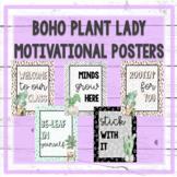 Boho Plant Lady Motivational Posters