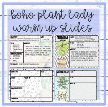 Boho Plant Lady Warm Up Slides