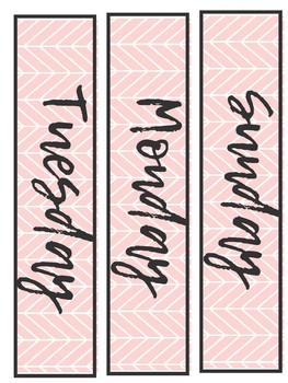 Boho Print Calendar Set