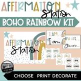 Boho Rainbow Affirmation Station or Bulletin Board